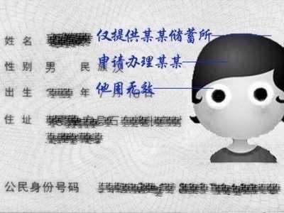 复印身份证签注图片 身份证复印件的签注书写方法