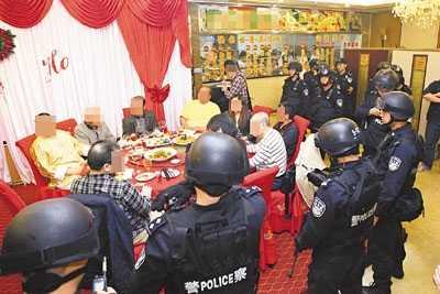 香港黑帮聚会 香港黑社会成员深圳聚会被端14名黑帮大佬被带走